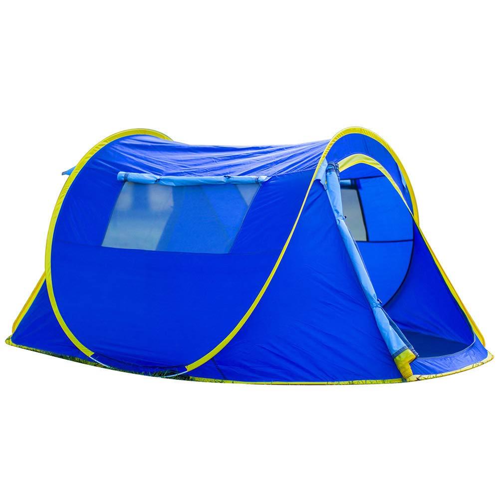 LBAFS Pop-Up Zelt Im Freien Automatische Große Zelt Portable Für Camping Park Freizeit Strand Angeln, 2 Personen,Blau
