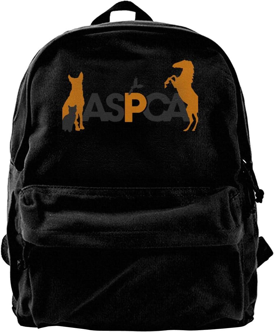 Aspca Fashion Casual Canvas Bag School College Backpack For Girls Black