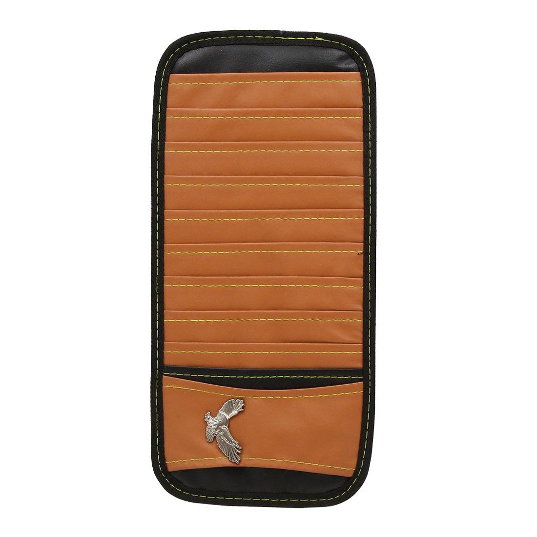 uxcell Brown Car Sun Visor 10 Disc Sunshade CD DVD Card Case Storage Bag Holder