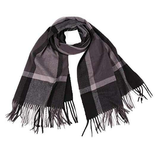 66091d51aae7a Blanket Scarf for Women, Classic Tassel Plaid Winter Warm Long Scarf Warm  Soft Chunky Big