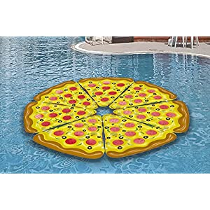 Inflatables Giant Pizza Slice Pool Float - PUMP INCLUDED