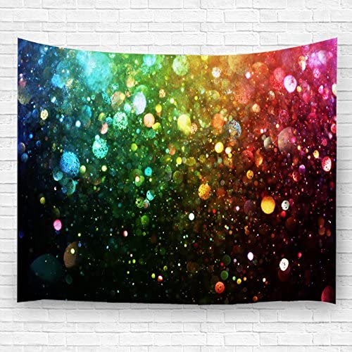 QIHUA Tapestry Dream Bubbles Decorative Hanging Ornaments Wall Hanging with Colorful Light 150CM200CM 9