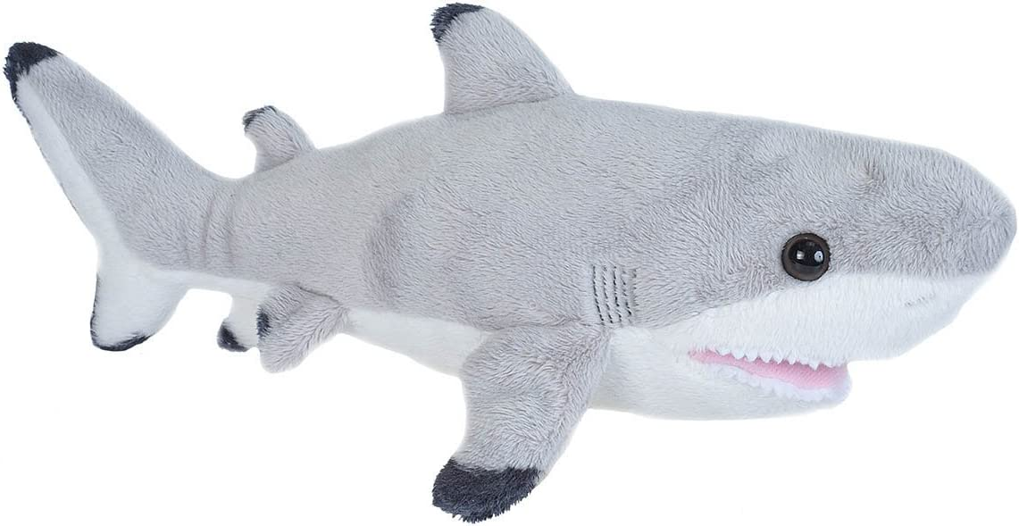 Wild Republic Black Tipped Shark, Plush Stuffed Animal, Plush Toy, Gifts for Kids, 11 Inches