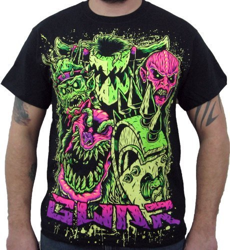 Hardcore Apparel Men's GWAR Faces T-Shirt Black-Medium
