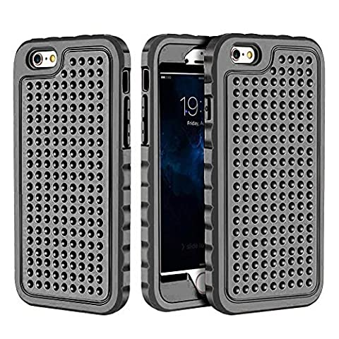 iPhone 6 Plus/6S Plus Case, Hybrid Heavy Duty Shockproof Full-Body Protective Case with Dual Layer [Hard PC+ Soft Silicone] Impact Protection for Apple iPhone 6S Plus 5.5 inch. (New (Motorola Droid Mini Speck Case)