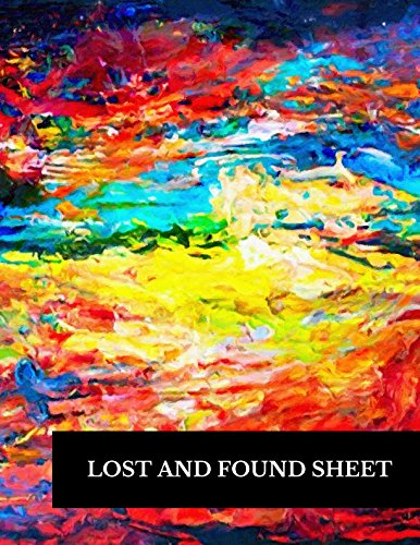 Lost And Found Sheet: Large 8.5 By 11 Log 100 Record Pages