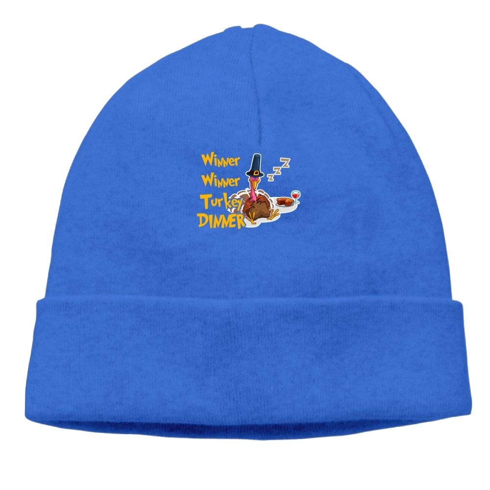 Winner Winner Turkey Dinner Thanksgiving Beanies Knit Hats Ski Cap Mens