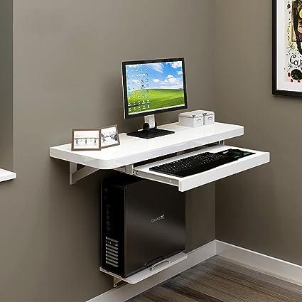 Duo Mesa de Ordenador Escritorio montado en la Pared del Ordenador portátil de la computadora de
