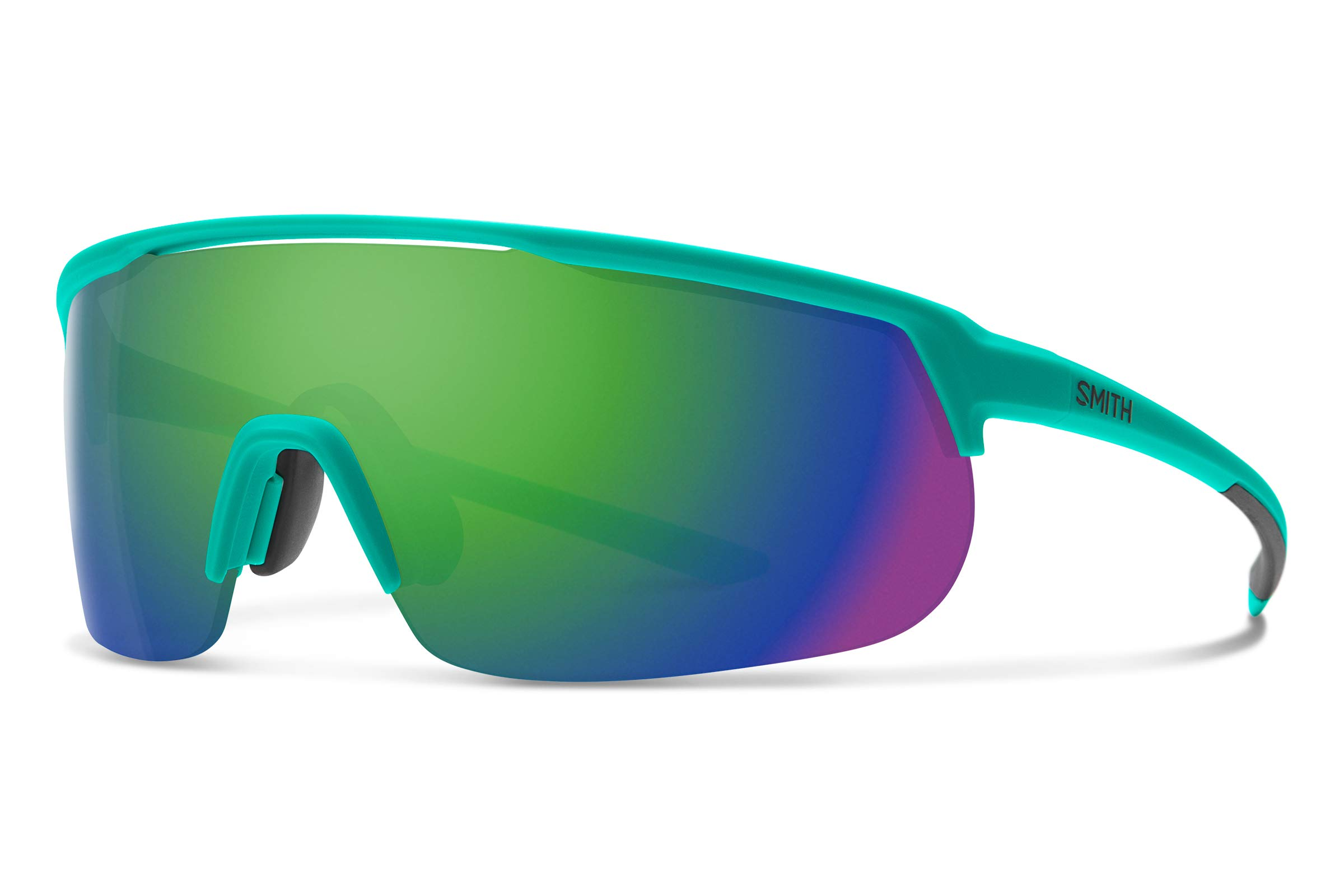 Smith Track Stand Chromapop Sunglasses, Matte Jade, Chromapop Sun Green Mirror/Contrast Rose