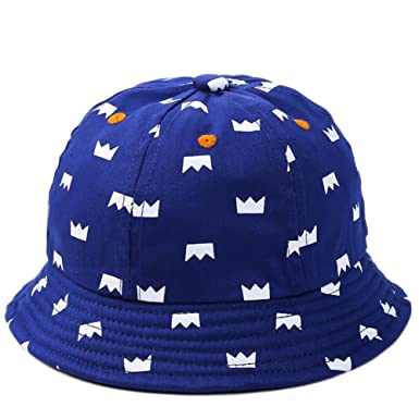 2290e5ac0 JUNGEN Bucket Hat Cap Sun Hat for Baby Boy 1-2 Years Old with Crown ...