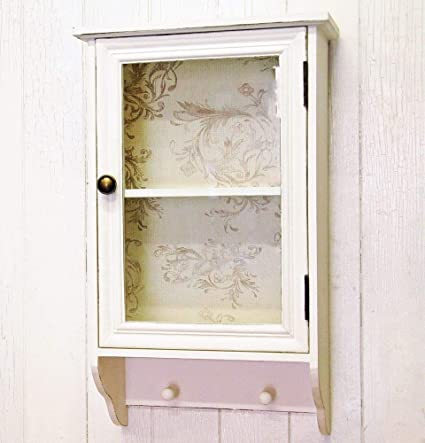 Phenomenal French Shabby Chic Wall Cabinet With Pegs Home Interior And Landscaping Ponolsignezvosmurscom