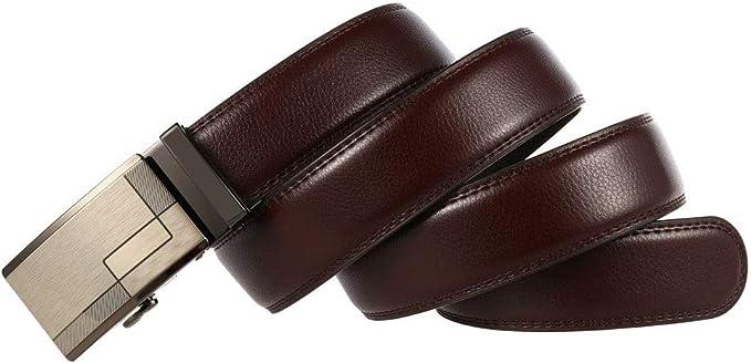 Automatische Ratchet Drachen Metallschnalle G/ürtel for Jeans Casual Business /& Workwear, Yaohon Herrenlederg/ürtel Zweite Schicht Leder-automatische Schnalle G/ürtel echtes Leder-Mann-Kleid-Gurt
