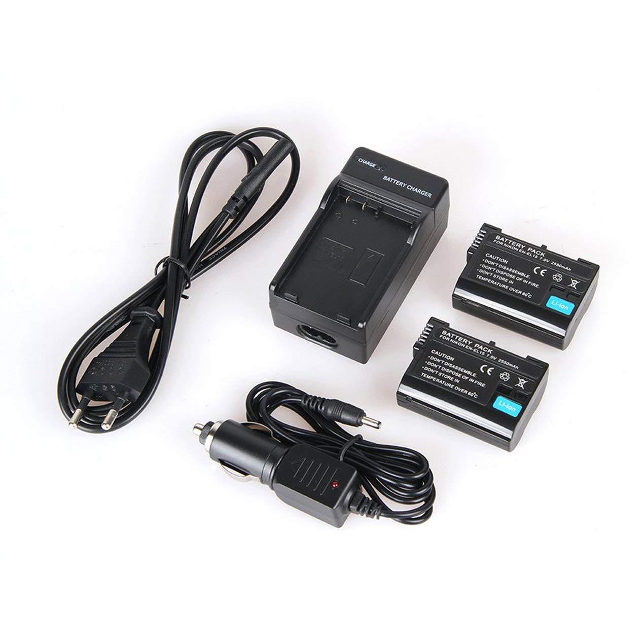 Baterías 2pcs 2550mAh EN-EL15 EL15 Batería + Cargador para Nikon ...