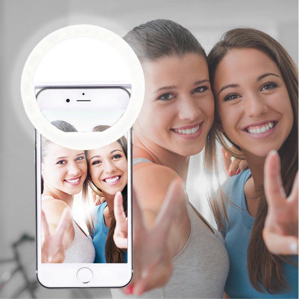 AUTOPKIO Selfie la luz del anillo la iluminación recargable selfie suplementario mejora