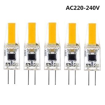 G4 LED Bombilla de COB, AC 220V 2W G4 Lámpara Equivalente a Lámpara Halógena 25W