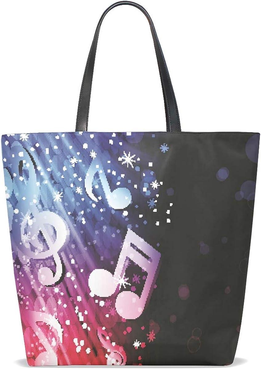 Handbags for Women Music Note Wave Tote Shoulder Bag Satchel for Ladies Girls