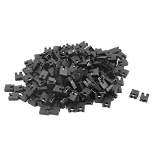 Uxcell a14050300ux0119 IDE Laptop HDD PCB Mini Micro Jumper Bridge Plugs, 200 Piece, 2.54 mm, Black