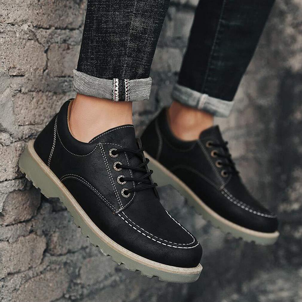 ECSD Mens Oxfords Schuhe PU Leder Lace Up Kleid Schuhe Für Männer Business Casual Schuhe (Farbe   SCHWARZ, größe   EU40 UK7 CN41)