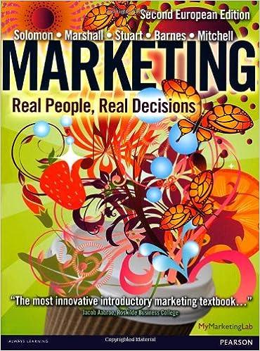 Marketing: Real People, Real Decisions: Amazon.es: Michael R. Solomon, Greg W. Marshall, Elnora W. Stuart, Bradley Barnes, Vincent-Wayne Mitchell: Libros en ...