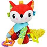 Baby Infant Pram Car Stroller Hanging Rattles Plush Toy Soft Teether Chew Doll - Fox Plush Toy