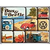 Nostalgic-Art Imán Set de 9 piezas - VW Beach