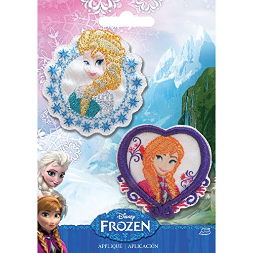 Simplicity 1931104001 Disney Frozen Elsa and Anna Applique - Iron Disney Princess