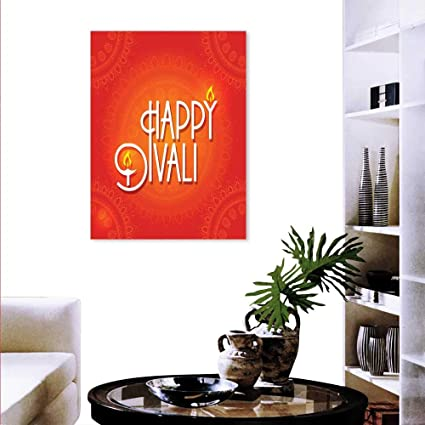 Anyangeight Diwali Decorate Stickers Wall Happy Diwali Wish