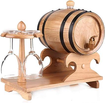 Titular de madera de roble del barril de vino con el vino de ...