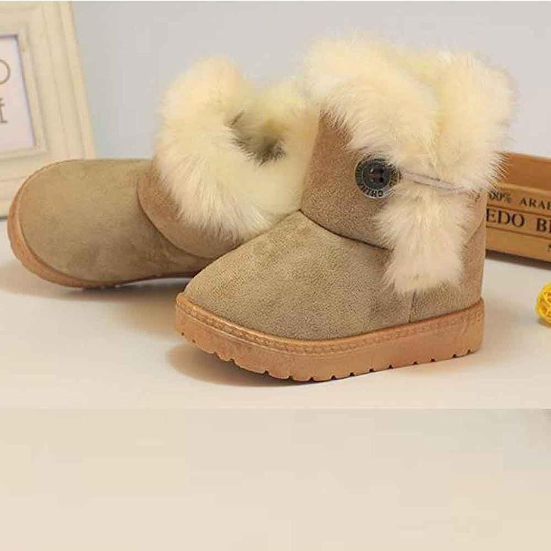 Amazon Voberry Girls Boys Warm Winter Flat Shoes Button Snow