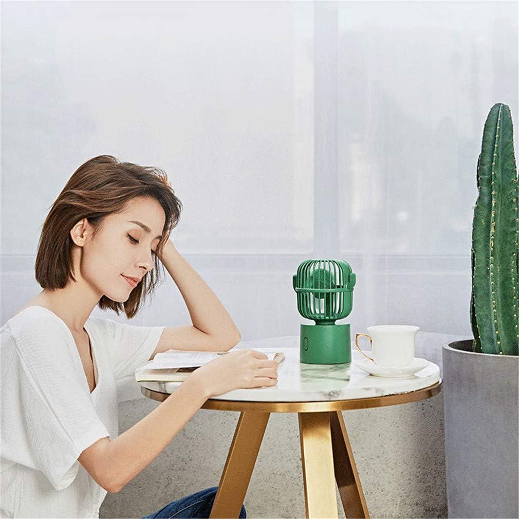 USB Mini Fan, Creativo personalità Cactus al di Fuori Ricarica Desktop All\'aperto Ufficio Portatile Handheld Piccolo Ventilatore Elettrico,Rosa Pink