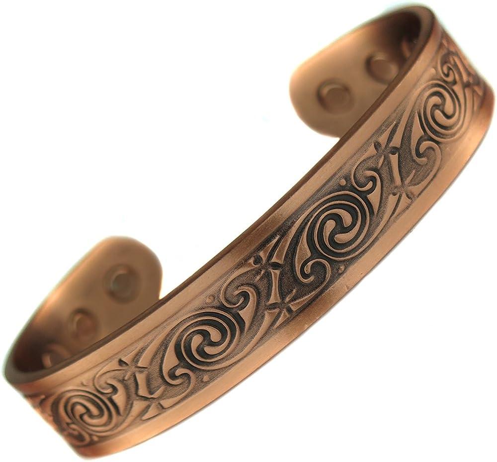 topt mag Bracelet Cuivre 6 Aimant 3000g Celte Celtic Tribal Homme Femme 17,5 cm