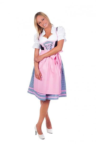 Amazon.com: Midi Dirndl vestido (3 piezas) de mujeres con ...