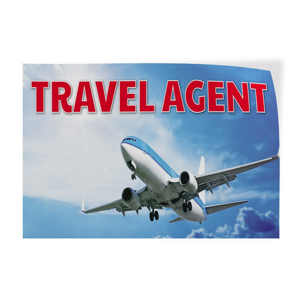 Set of 10 Decal Sticker Multiple Sizes Travel Agent Business Travel Agent Outdoor Store Sign White 14inx10in
