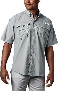 Columbia Bahama II de Manga Corta para Hombre, Hombre, Camisetas abotonadas, 1011651, Gris, Large: Amazon.es: Deportes y aire libre