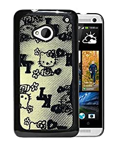 New Beautiful Custom Designed Cover Case For HTC ONE M7 With Hello Kitty Design Phone Case