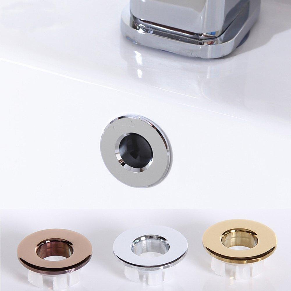Cubierta de desagüe de fregadero de cobre, tapa de desagüe para fregadero, anillo de rebosadero para baño, cocina, lavabo artístico, tapas de drenaje, ...
