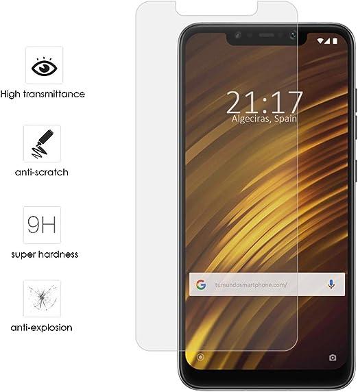 Tumundosmartphone Protector Cristal Templado para XIAOMI POCOPHONE ...