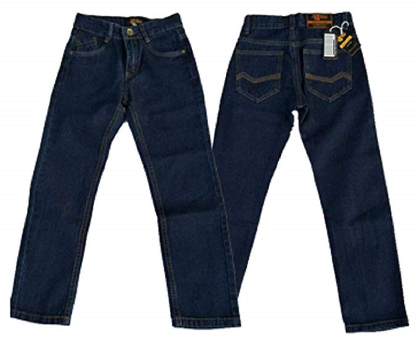 Designer Boys Jeans Adjustable Waist Trousers Denim Wash Toddler Kids 2 3 4 5 6 7 8 9 10 11 12 13 14 15 16 Years