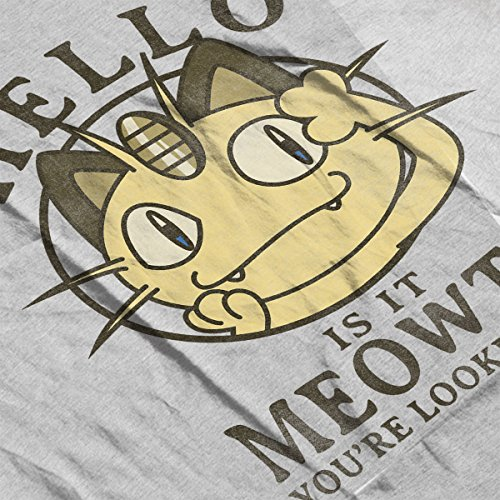 Men's white Meowth Yore Varsity Heather For Hello It Looking Is Grey Pokemon Jacket qa07wBZF