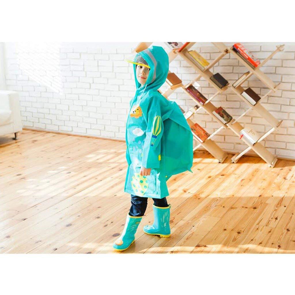G-s  BAIF Imperméables pour Enfants garçons et Filles avec des voituretables Mode Poncho imperméable Maternelle VêteHommests de Pluie pour bébés (Couleur  D-M)