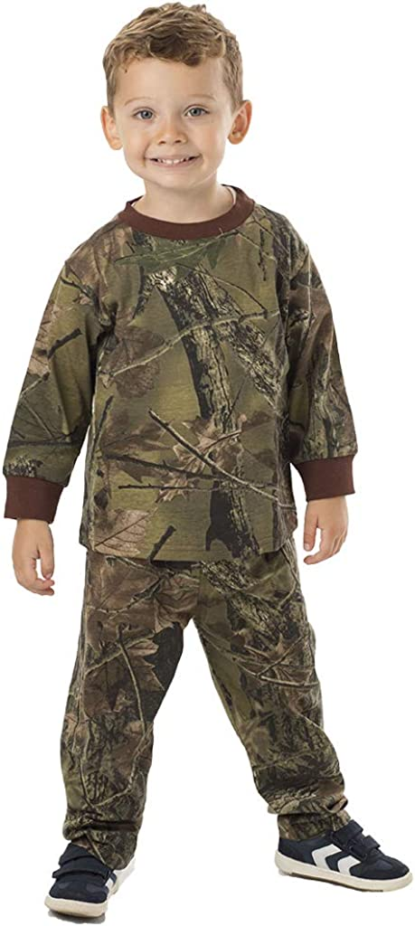 TrailCrest Infant - Toddler Cotton Camo Long Sleeve T-Shirt and Long Pants Set: Clothing