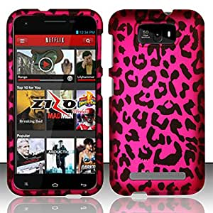 For BLU Studio 5.5 D610a - Rubberized Design Hard Snap-on Cover - Pink Leopard DP