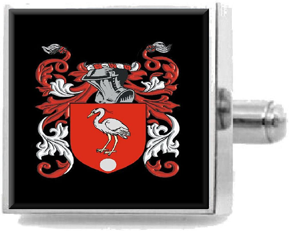 Select Gifts Mountfield England Heraldry Crest Sterling Silver Cufflinks Engraved Box