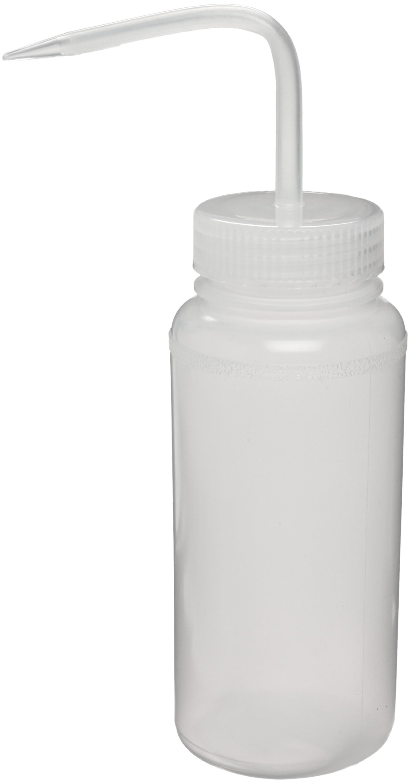 Bel-Art Wide-Mouth 500ml (16oz) Polyethylene Wash Bottles; Natural Polypropylene Cap, 53mm Closure (Pack of 6) (F11620-0500) by SP Scienceware