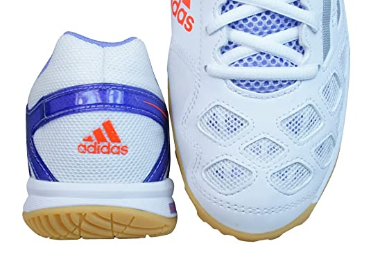 best authentic b4ca3 16797 adidas Feather Team Womens Badminton TrainersShoes-White-10.5  Amazon.co.uk Shoes  Bags