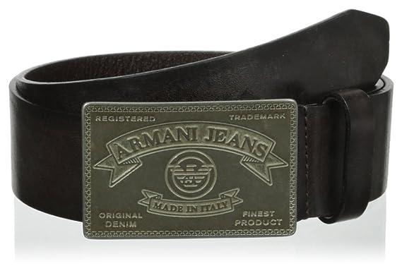 Armani Jeans ceinture homme en cuir marron EU 90 A6128 D8 G7  Amazon ... 3cac3cc6d7f