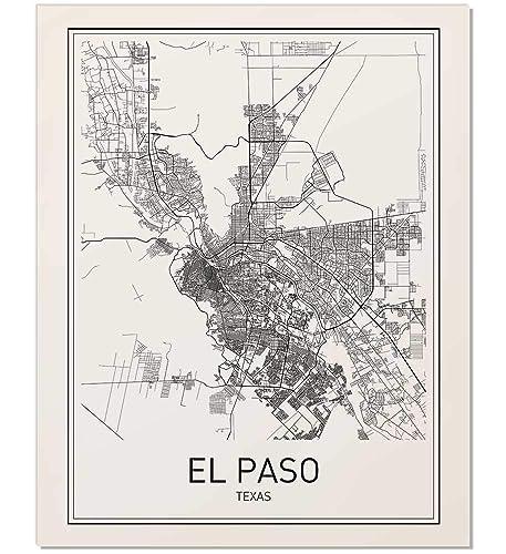 Amazon.com: El Paso Map, El Paso Poster, Map of El Paso, El Paso ...