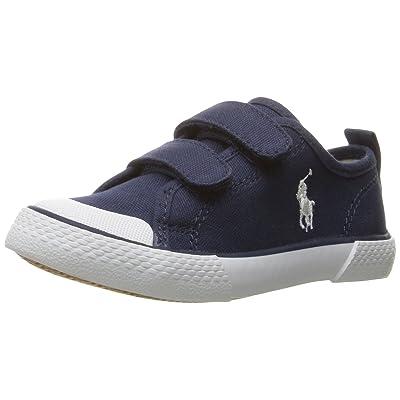Polo Ralph Lauren Kids Kids' Camden EZ Navy Canvas Withwht PP Sneaker
