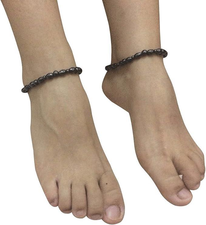 Rose Gold Titanium Magnetic Anklet Ankle Bracelets Womens Pain Relief for Arthritis with Magnets Anklet//Large Bracelet 24cm