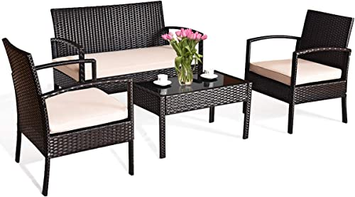 Tangkula 4 PCS Patio Furniture Set
